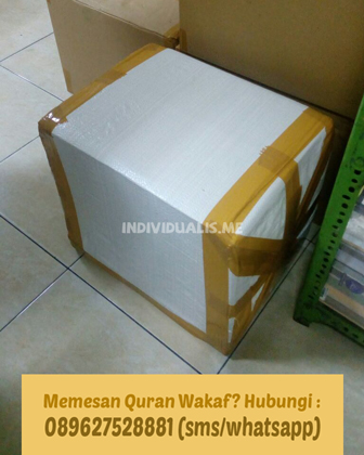 pesan Alquran Wakaf online kepada kami