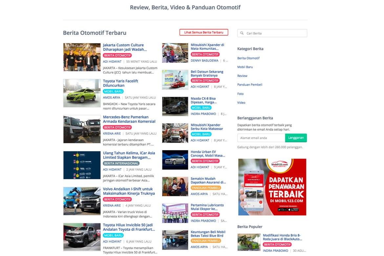 pencarian artikel di mobil123 dapat dilakukan dengan mudah