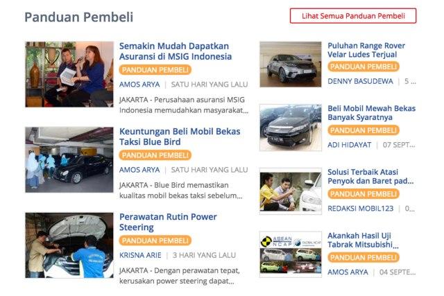 halaman yang takkalah menarik: panduan pembeli di mobil123