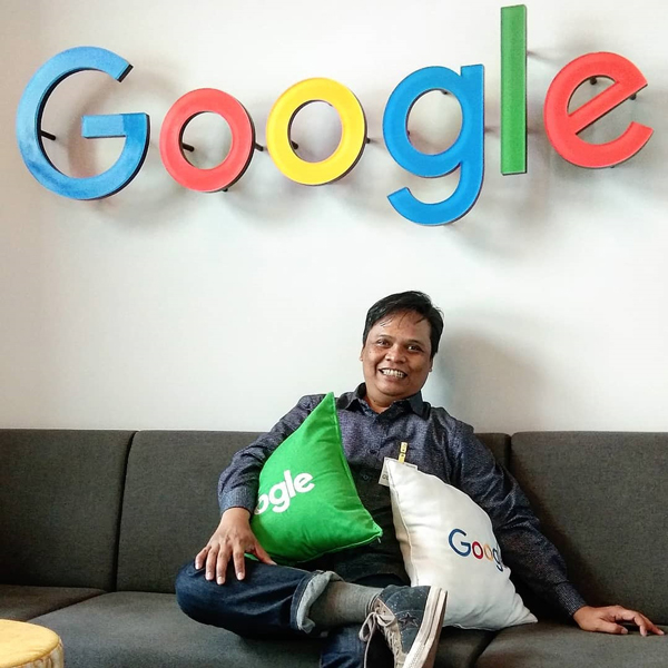 Adetruna di Kantor Google Indonesia